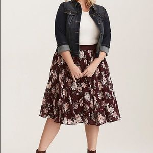 Torrid Chiffon and Tulle Skirt